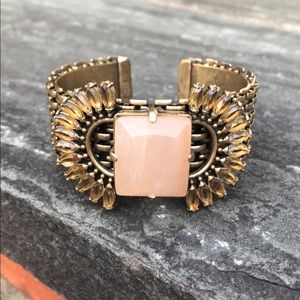 J. Crew Stone and Brass Cuff